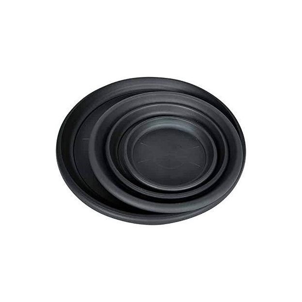 Black Plastic Pot Saucers new